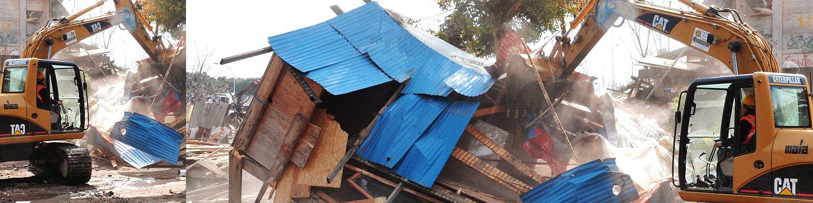 baracca rom abbattuta