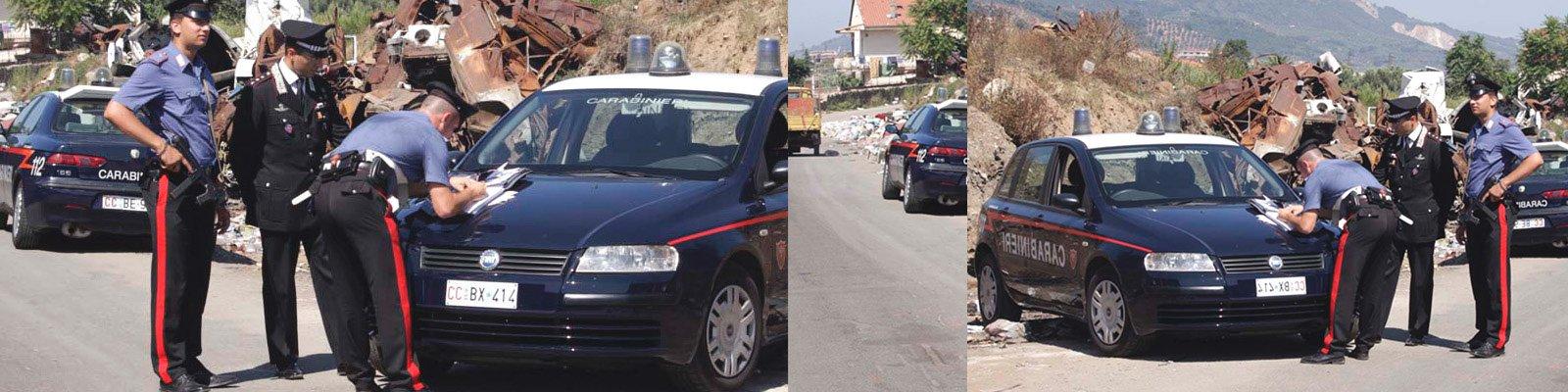carabinieri blocco rom